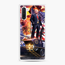 Load image into Gallery viewer, American Pride and Military of Donald Trump Samsung Galaxy Note 10 Case, White Rubber Case | Webluence.com