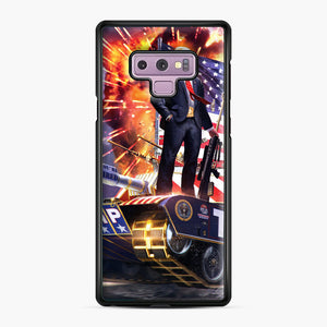 American Pride and Military of Donald Trump Samsung Galaxy Note 9 Case, Black Plastic Case | Webluence.com