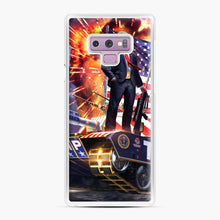 Load image into Gallery viewer, American Pride and Military of Donald Trump Samsung Galaxy Note 9 Case, White Plastic Case | Webluence.com