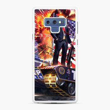 Load image into Gallery viewer, American Pride and Military of Donald Trump Samsung Galaxy Note 9 Case, White Rubber Case | Webluence.com
