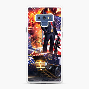 American Pride and Military of Donald Trump Samsung Galaxy Note 9 Case, White Rubber Case | Webluence.com