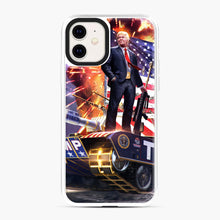 Load image into Gallery viewer, American Pride and Military of Donald Trump iPhone 11 Case, White Plastic Case | Webluence.com