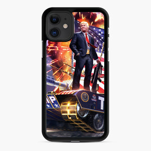 American Pride and Military of Donald Trump iPhone 11 Case, Black Rubber Case | Webluence.com