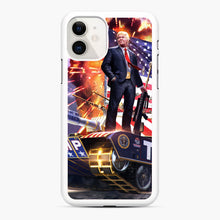 Load image into Gallery viewer, American Pride and Military of Donald Trump iPhone 11 Case, White Rubber Case | Webluence.com
