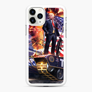 American Pride and Military of Donald Trump iPhone 11 Pro Max Case, White Rubber Case | Webluence.com