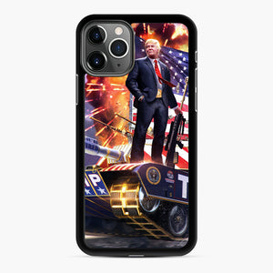 American Pride and Military of Donald Trump iPhone 11 Pro Max Case, Black Rubber Case | Webluence.com