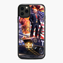 Load image into Gallery viewer, American Pride and Military of Donald Trump iPhone 11 Pro Max Case, Black Plastic Case | Webluence.com