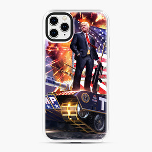 American Pride and Military of Donald Trump iPhone 11 Pro Max Case, White Plastic Case | Webluence.com