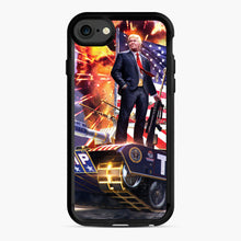 Load image into Gallery viewer, American Pride and Military of Donald Trump iPhone 7/8 Case, Black Rubber Case | Webluence.com