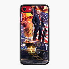 Load image into Gallery viewer, American Pride and Military of Donald Trump iPhone 7/8 Case, Black Plastic Case | Webluence.com