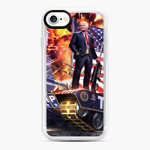 American Pride and Military of Donald Trump iPhone 7/8 Case, White Rubber Case | Webluence.com