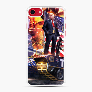 American Pride and Military of Donald Trump iPhone 7/8 Case, White Plastic Case | Webluence.com