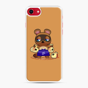Animal Crossing Character Tom Nook iPhone 7/8 Case, White Plastic Case | Webluence.com