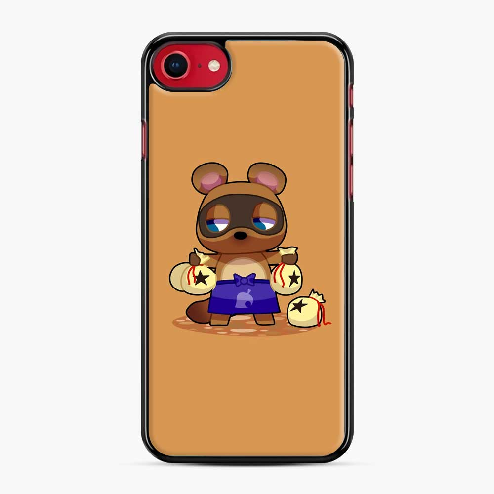 Animal Crossing Character Tom Nook iPhone 7/8 Case, Black Plastic Case | Webluence.com