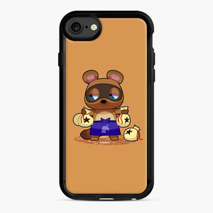 Animal Crossing Character Tom Nook iPhone 7/8 Case, Black Rubber Case | Webluence.com