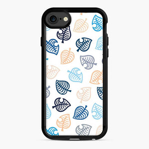 Animal Crossing Motif Blue iPhone 7/8 Case, Black Rubber Case | Webluence.com