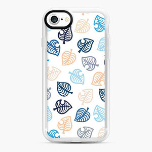 Animal Crossing Motif Blue iPhone 7/8 Case, White Rubber Case | Webluence.com
