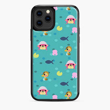 Load image into Gallery viewer, Animal Crossing Pattern Blue iPhone 11 Pro Case