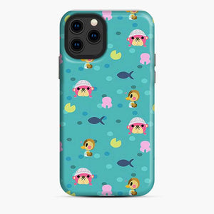 Animal Crossing Pattern Blue iPhone 11 Pro Case
