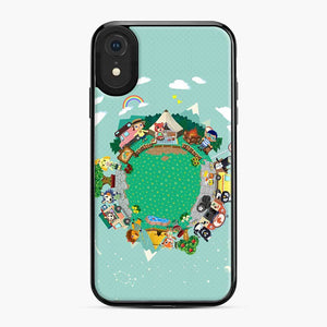 Animal Crossing Pocket Camp iPhone XR Case, Black Plastic Case