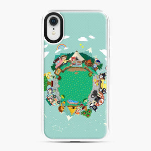 Animal Crossing Pocket Camp iPhone XR Case, White Plastic Case