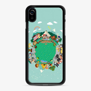 Animal Crossing Pocket Camp iPhone XR Case, Black Rubber Case