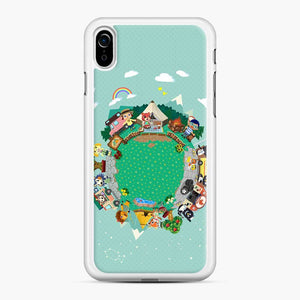 Animal Crossing Pocket Camp iPhone XR Case, White Rubber Case