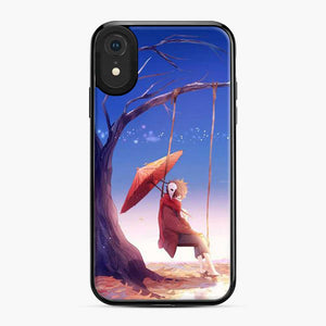 Anime Boy Swing Umbrella iPhone XR Case