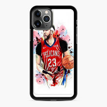 Load image into Gallery viewer, Anthony Davis Basketball New Orleans Pelicans Watercolor iPhone 11 Pro Case