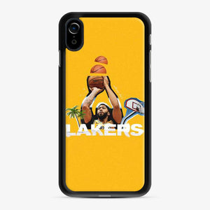 Anthony Davis La Lakers Beach Yellow iPhone XR Case