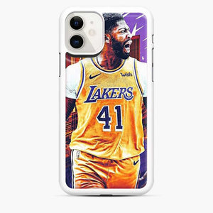Anthony Davis Lakers City Yellow iPhone 11 Case