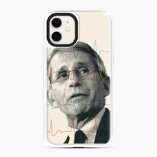 Load image into Gallery viewer, Anthony Fauci Became America's Doctor iPhone 11 Case, White Plastic Case | Webluence.com