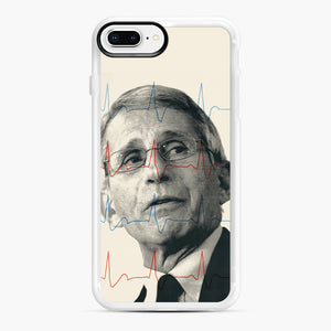 Anthony Fauci Became America's Doctor iPhone 7,8 Plus Case, White Rubber Case | Webluence.com
