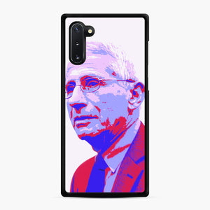 Anthony Fauci illustration Art Samsung Galaxy Note 10 Case, Black Rubber Case | Webluence.com