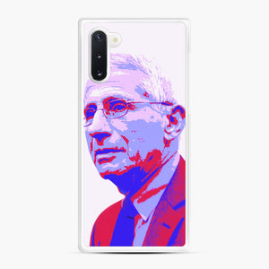 Anthony Fauci illustration Art Samsung Galaxy Note 10 Case, White Rubber Case | Webluence.com