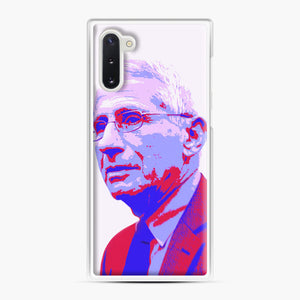 Anthony Fauci illustration Art Samsung Galaxy Note 10 Case, White Plastic Case | Webluence.com