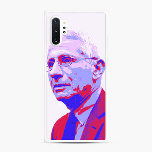 Anthony Fauci illustration Art Samsung Galaxy Note 10 Plus Case, White Rubber Case | Webluence.com