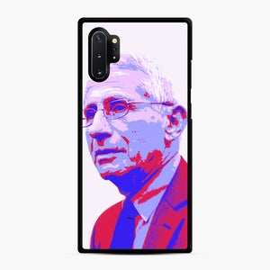 Anthony Fauci illustration Art Samsung Galaxy Note 10 Plus Case, Black Rubber Case | Webluence.com