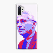 Load image into Gallery viewer, Anthony Fauci illustration Art Samsung Galaxy Note 10 Plus Case, White Plastic Case | Webluence.com