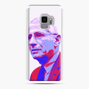 Anthony Fauci illustration Art Samsung Galaxy S9 Case, White Plastic Case | Webluence.com
