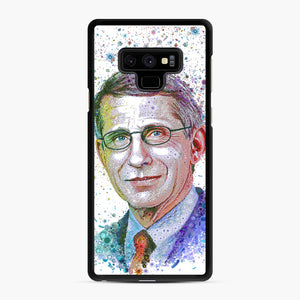 Anthony Fauci illustration Samsung Galaxy Note 9 Case, Black Rubber Case | Webluence.com