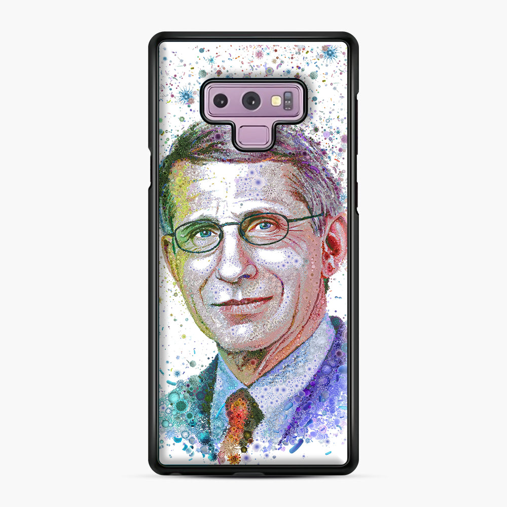 Anthony Fauci illustration Samsung Galaxy Note 9 Case, Black Plastic Case | Webluence.com