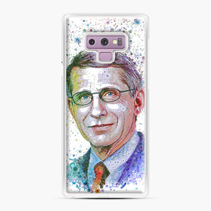 Anthony Fauci illustration Samsung Galaxy Note 9 Case, White Plastic Case | Webluence.com