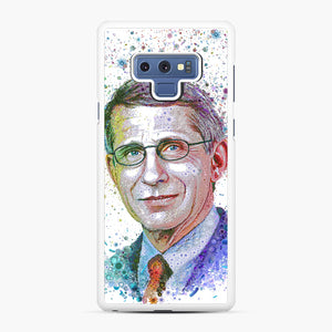 Anthony Fauci illustration Samsung Galaxy Note 9 Case, White Rubber Case | Webluence.com