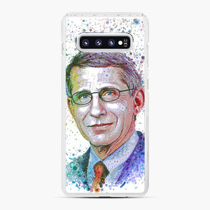 Anthony Fauci illustration Samsung Galaxy S10 Plus Case, White Plastic Case | Webluence.com