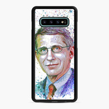 Load image into Gallery viewer, Anthony Fauci illustration Samsung Galaxy S10 Plus Case, Black Rubber Case | Webluence.com