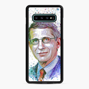 Anthony Fauci illustration Samsung Galaxy S10 Plus Case, Black Rubber Case | Webluence.com