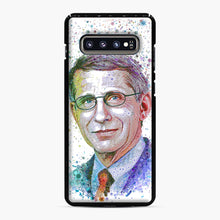 Load image into Gallery viewer, Anthony Fauci illustration Samsung Galaxy S10 Plus Case, Black Plastic Case | Webluence.com