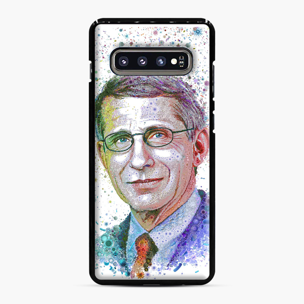 Anthony Fauci illustration Samsung Galaxy S10 Plus Case, Black Plastic Case | Webluence.com