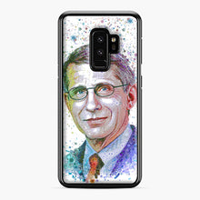 Load image into Gallery viewer, Anthony Fauci illustration Samsung Galaxy S9 Plus Case, Black Plastic Case | Webluence.com